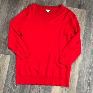 J Crew Tippi Sweater Red Medium NWOT